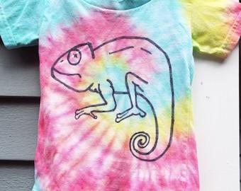 98a98c91d Toddler Chameleon Shirt, Custom Tie Dye Lizard T-shirt, Toddler Tie Dye  Shirt, Reptile Birthday, Toddler Boys Tie dye, Little Kids Lizard