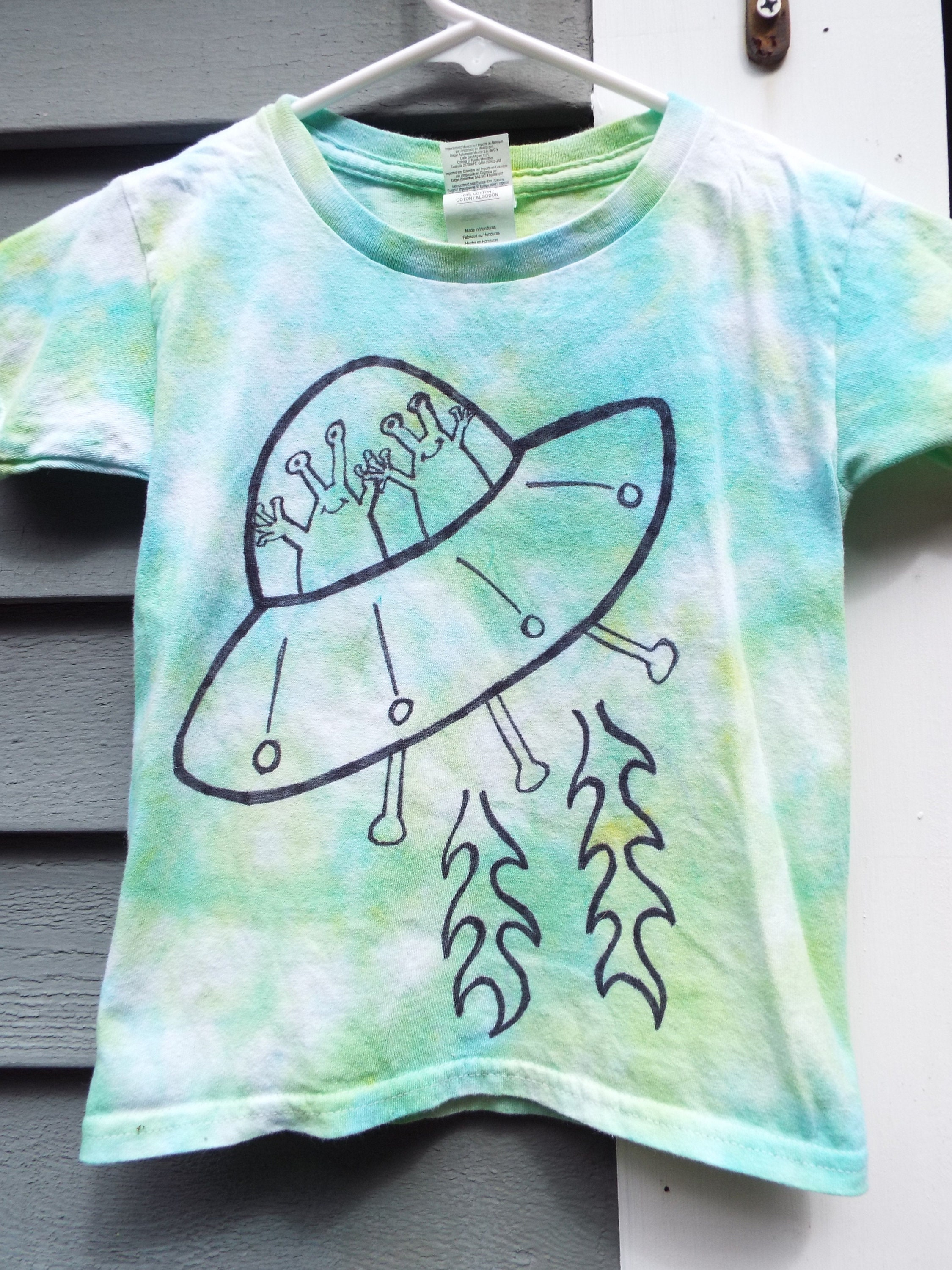Toddler Alien Shirt Custom Tie Dye Alien T-shirt for  baaba16a5