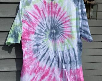 LT Tie Dye Shirt, Adult large Tall Hippie Tie Dye T-shirt, Big and Tall Tiedye Shirt, Large Tie Dye, Mens Tie dye, Extra long tshirt tiedye