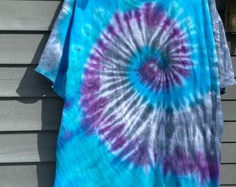 2XL Tie Dye T Shirt, Extra Large Tiedye Shirt, Mens Tie Dye TShirt, XL Tiedye, Hippie Clothing, Retro Clothes, 60s Shirt, Bohemian Tshirt