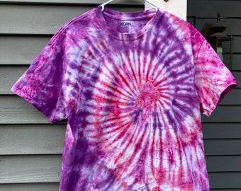 XL Tie Dye Shirt, Large Tiedye Shirt, womens XL Shirt, XL Tiedye Plus Size Hippie Clothing, Retro Clothes, 60s Shirt, Boho Tshirt
