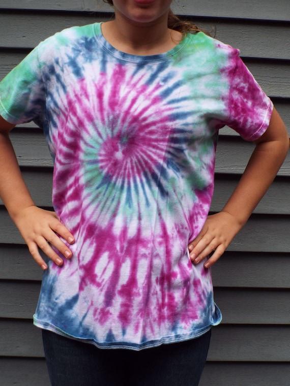 Ladies XL Tie Dye Shirt XL Tiedye Shirt Womens Tie Dye Plus  802a3ab6dd