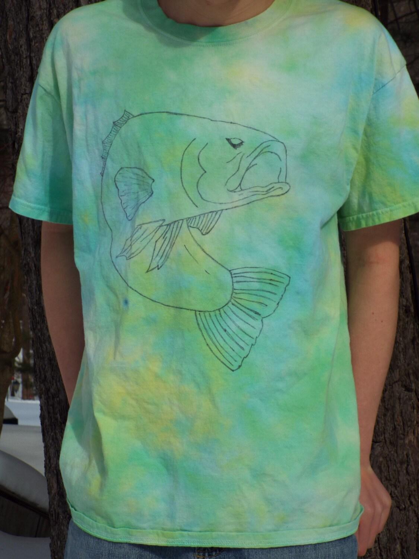 Bass Shirt Custom Tie Dye Fishing Shirt Mens Tie Dye Shirt Etsy