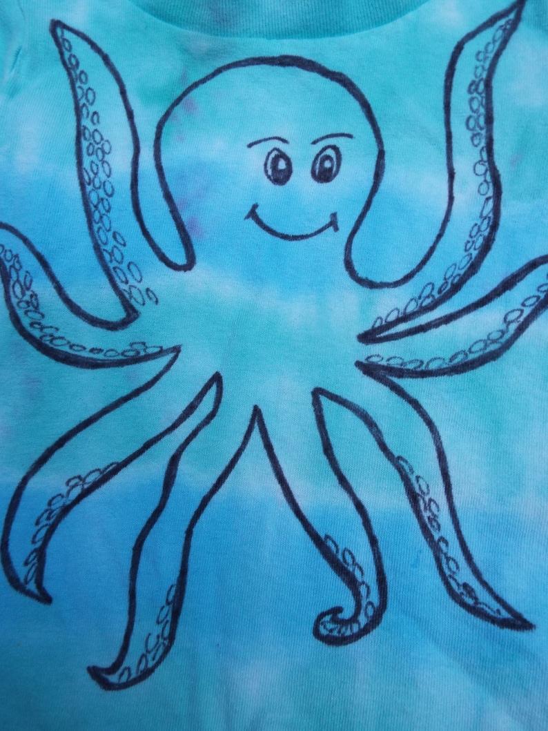 2e311e58f Toddler Octopus Shirt Custom Tie Dye Octopus T-shirt for | Etsy