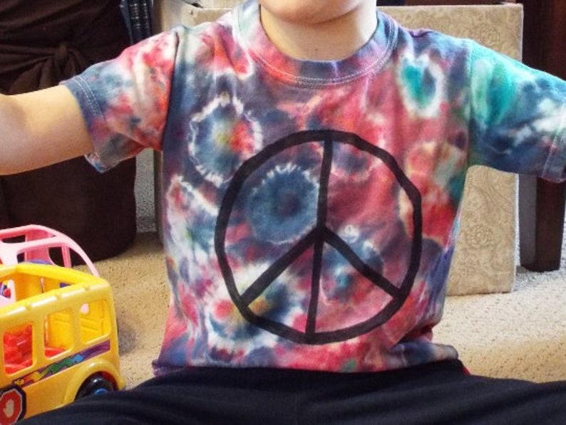 a95e9ecaa6662 Toddler Peace Sign Shirt Toddler Tie Dye Shirt w Peace Sign   Etsy