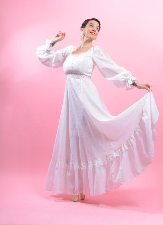"""1970's """"Gunne Sax by Jessica"""" dress• Wedding dress"""