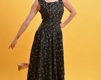 Vintage 1950's dress by Jonathan Logan• 50's taffeta dress • drop waist dress