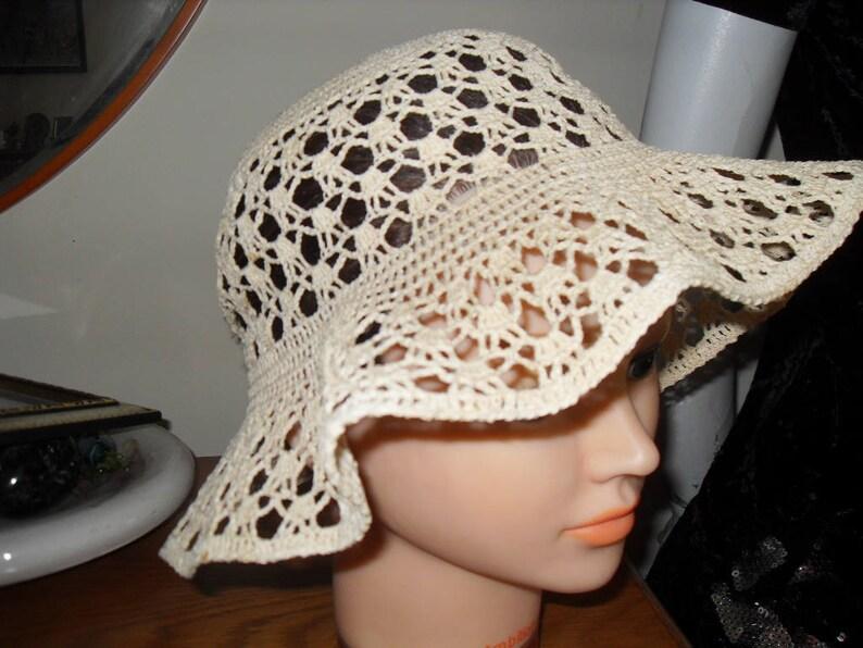 cotton Crochet hat size  56cm