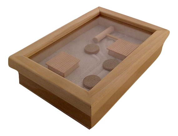 Merveilleux Zen Garden No Mess Slide Top Box Mini Zen Sand Garden Gift For | Etsy