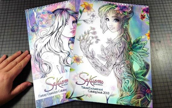 A4 8 5 x 12 para colorear de fantasía libros hermosos | Etsy