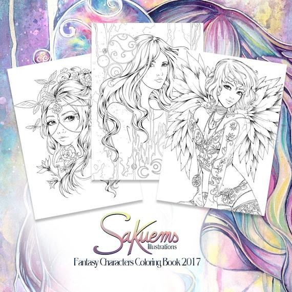 - PDF DIGITAL Fantasy Coloring Book Advanced Adult Colouring Etsy