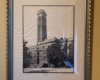 Dan Quest Jack Daniels Woodcut Relaxing in the Bethel House Signed /& Limited