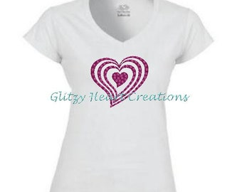 I Love Heart Montenegro V-Neck T-Shirt