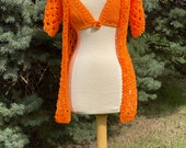Crochet Jacket and Bikini Top