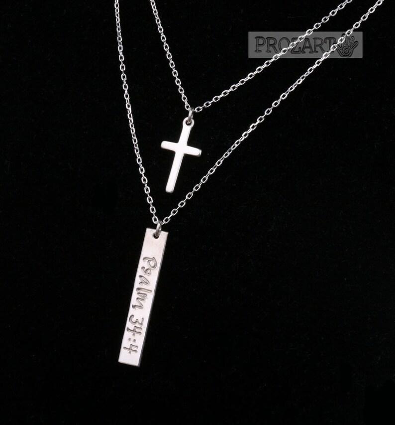 Mädchen Taufe Schmuck Halskette mit Kreuz und Personalisiert Prägung