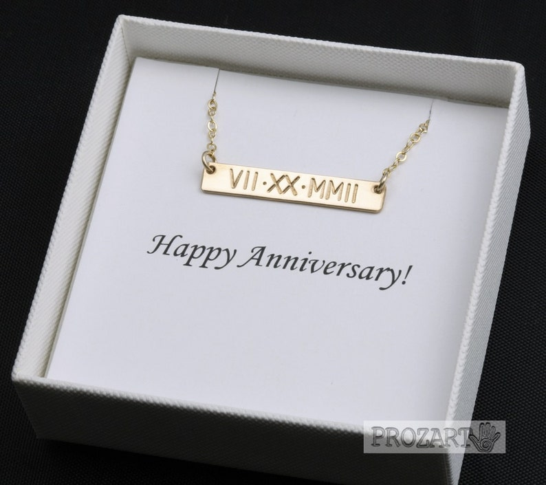 Roman Numeral necklace,Wedding date bar necklace,Full name bar necklace,initial necklace,hand stamped bar necklace,note card,anniversary