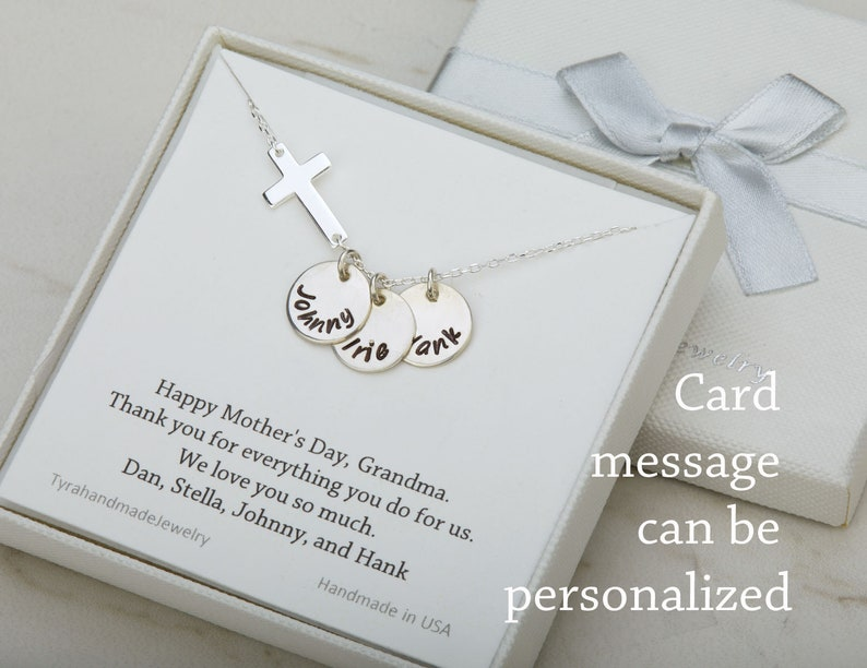 Personalized Necklace,Hand stamped cross necklace,initialed sideways cross necklace,Name Necklace,bible verse jewelry,inspirational necklace