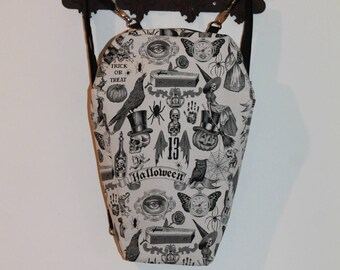 """Backpack coffin """"Darkness"""" 3 ways to wear."""