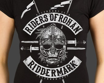 dc5e0eaf Riders of Rohan™ - J.R.R. Tolkien's The Lord of the Rings inspired Ladies t- shirt, screen printed by hand