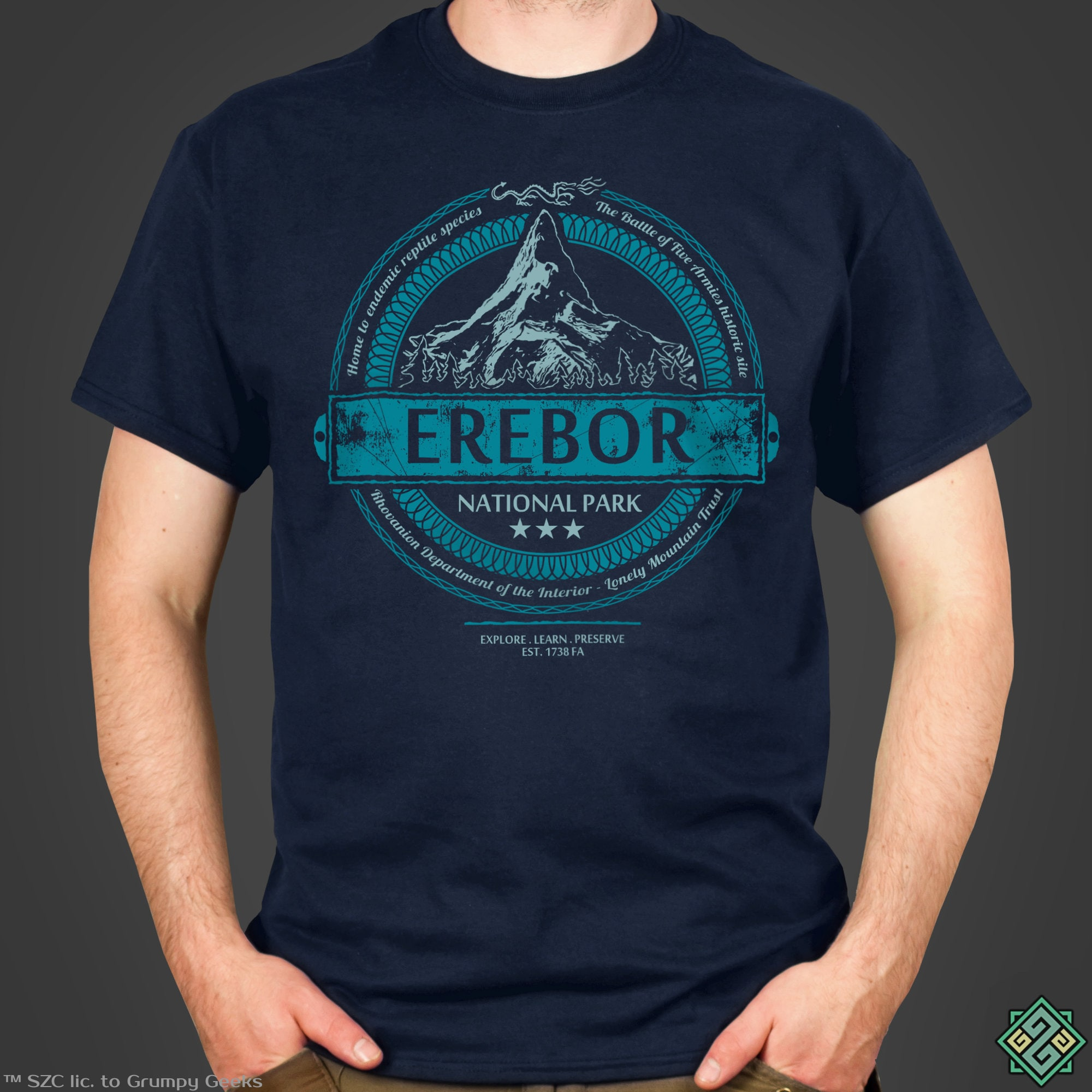 EREBOR National Park T-Shirt Middle Earth Lord Of The Rings The Hobbit
