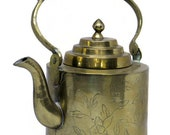China teapot solid brass 1900 China Brass Chinese Export Tea Time
