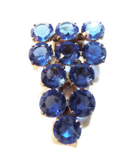 Vintage 1930's Art Deco Dress Clip with Stunning B