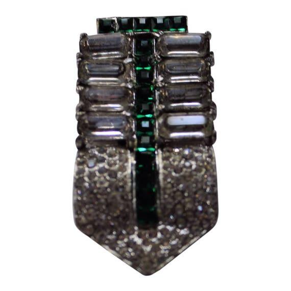 Vintage 1930 Art Deco Emerald Dress Clip Art Deco