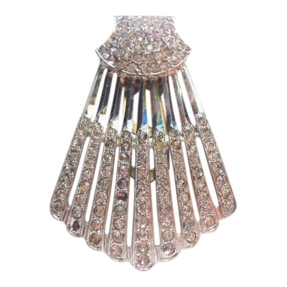 Classique Classique Classique Vintage 1930 Art déco Fan Design strass robe Clip strass Clip Art déco bijoux bijoux de mariée | De La Mode  c8879c