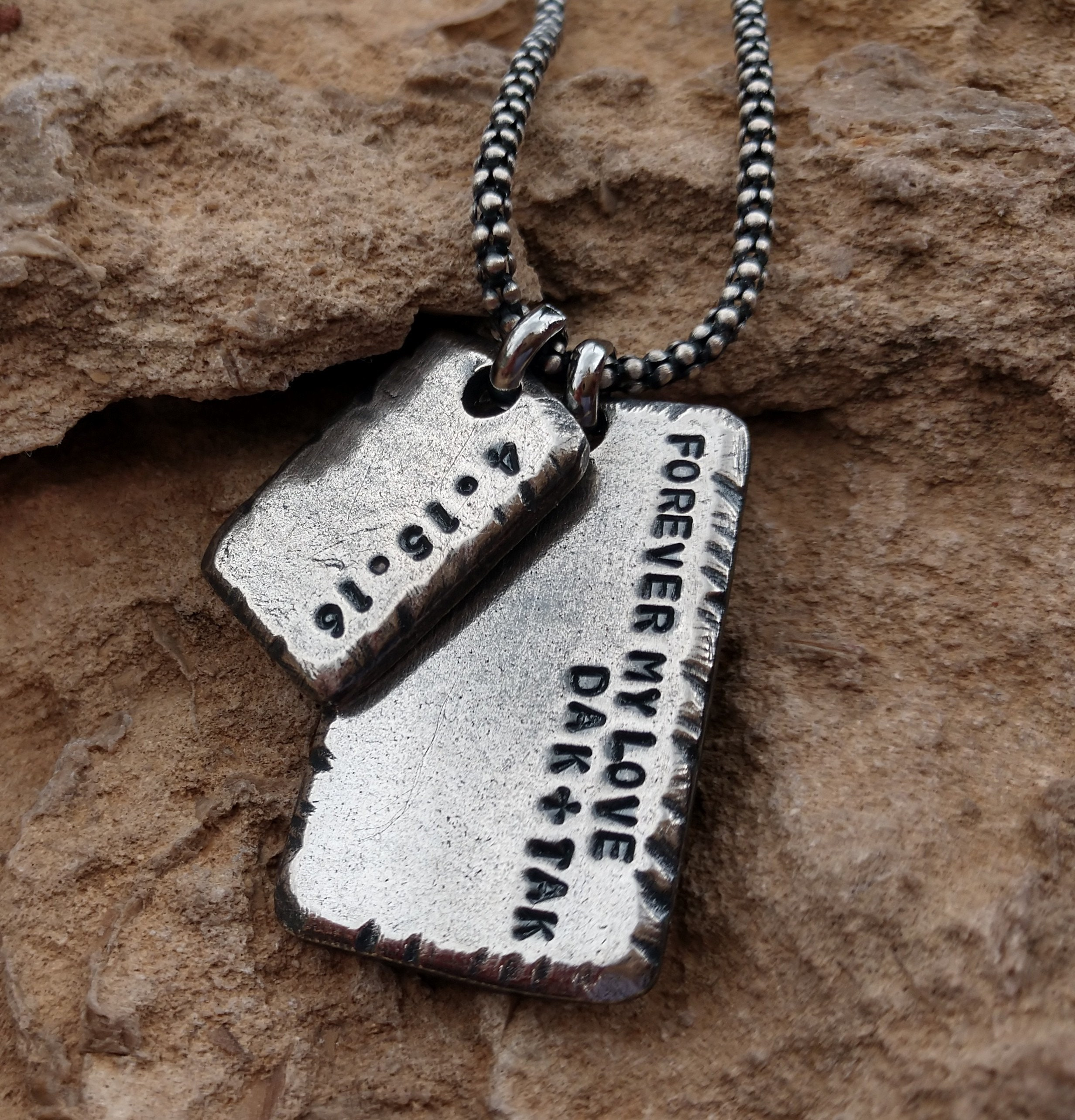 silver personalized necklace personalized gifts for men mens custom personalized necklace mens necklaces