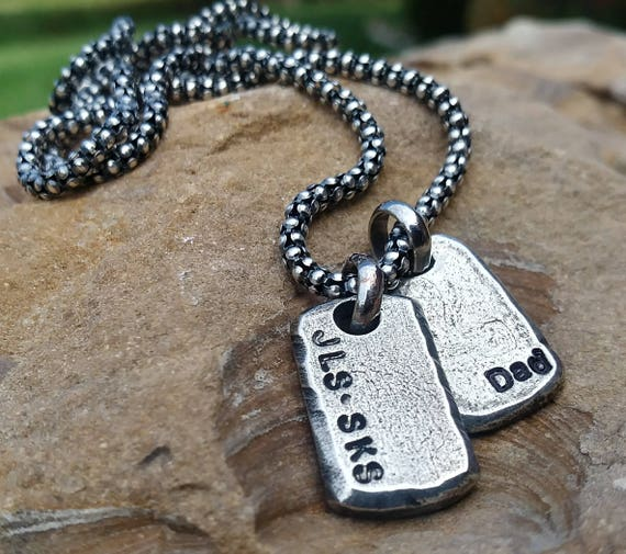 Dog Tags Custom Mens Personalized Necklace Personalized Father/'s Necklace Dad Necklace Mens Necklace Gift for Dad Father/'s day gift