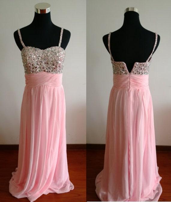 Leichte rosa Brautjungfer Kleid Rosa Prom Kleid chiffon Kleid