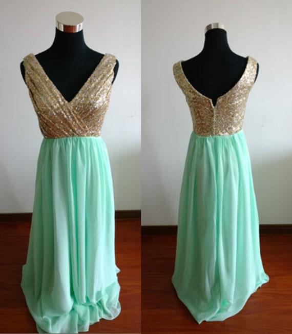 Pailletten Mint Prom Kleid lange Prom Kleider Stock Länge | Etsy