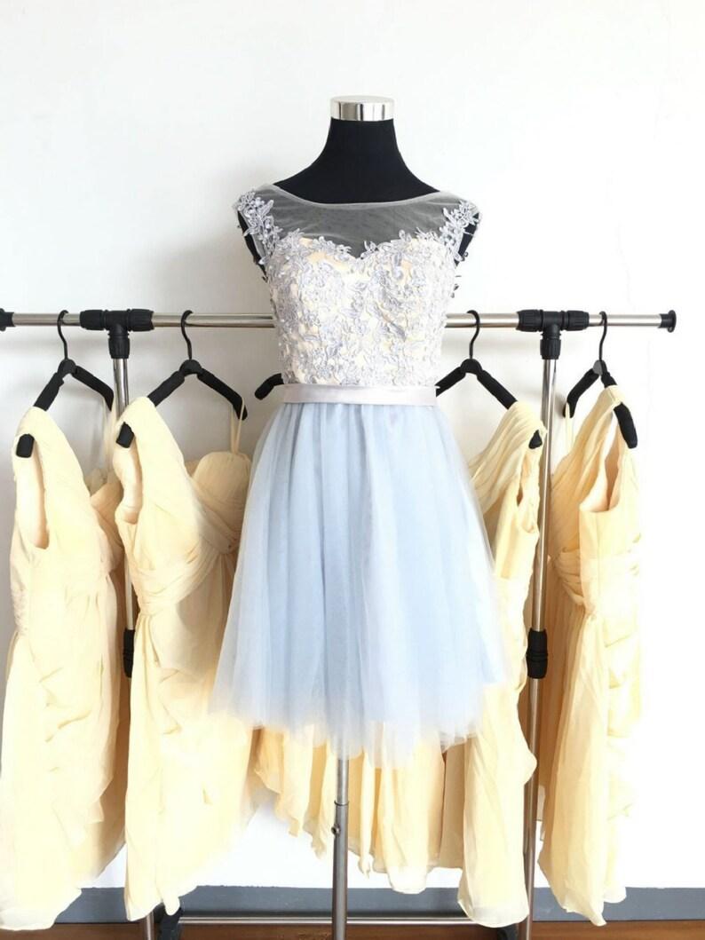 1395c42731862a Graue Brautjungfer Kleid Abendkleider Damen Lace Abendkleid | Etsy