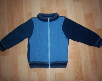 Articoli Simili A Giacchina Per Bambina Azzurra Giacchina Di
