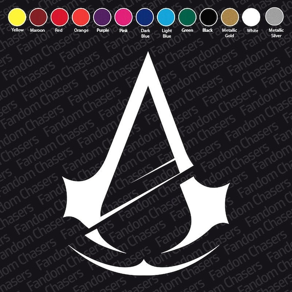 Assassins Creed Vinyl Decal 2.5 3.5 4.5 Car Gaming Console Laptop Video Game