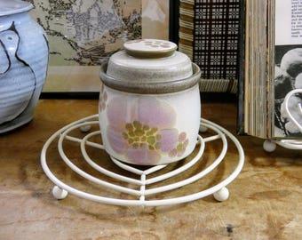 Vintage Denby  Gypsy  White u0026 Pink Floral Lidded Stoneware Preserve Pot Jam Jar Tableware & Denby gypsy   Etsy