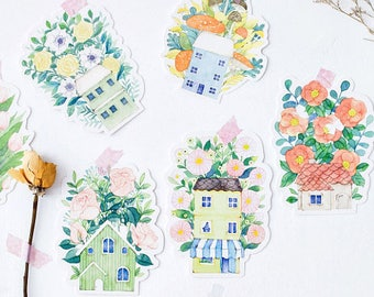 Post Cards Flower House SM223232 30pcs