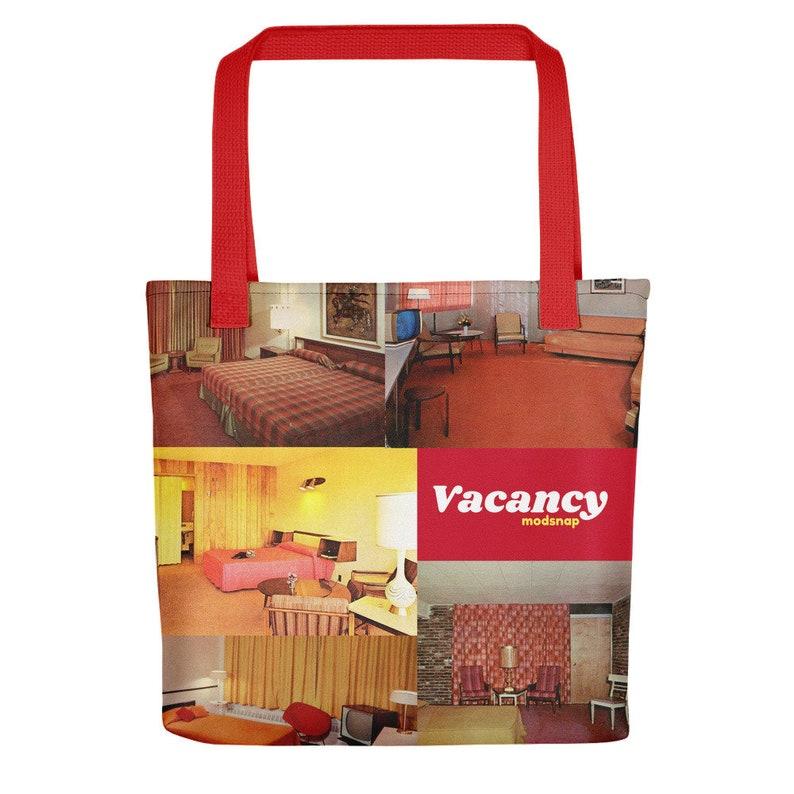 60/'s Motels Retro Vacany Tote bag