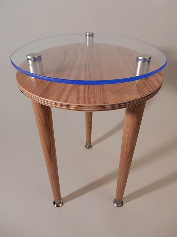Egg Oval Accent Table   Clear Satin Finish Modern Furniture   3 Leg Side Or  End Table   Contemporary Design
