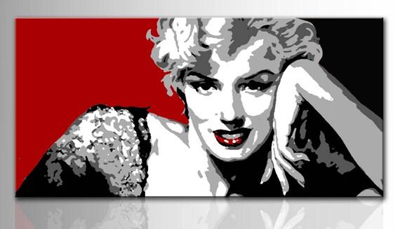 Quadro moderno dipinto a mano Marilyn Monroe pop art Quadri | Etsy