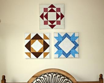 Framed Quilt Block, Wall Hanging, Textile Art, Fibre Art, Wall Quilt