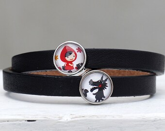 Leather belt Red Riding Hood & the Wolf