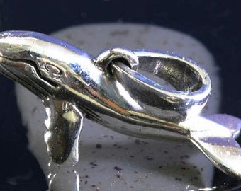 Whale, pendant 925 sterling silver-wal, pendant 925 sterling silver-1697