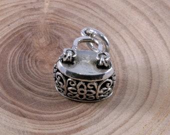 Handbag, pendant, 925 sterling silver-1075