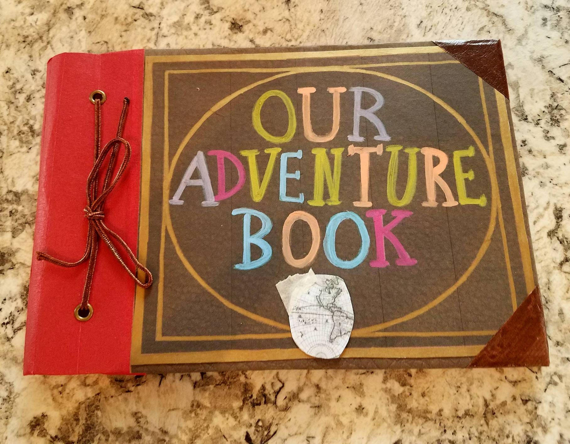 NEW size!!!! Our Adventure Book, My Adventure Book, Hand Painted, Up Movie  Book, Ellie's Book, Wedding Guest Book, 5 x 7