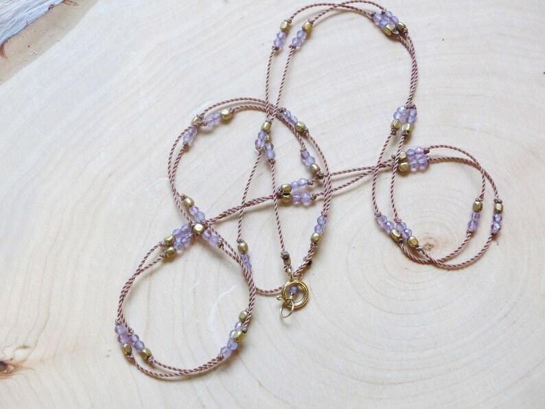 February Birthstone Layering Necklace Purple Necklace Minimalist Jewelry Amethyst Dainty Necklace Gemstone Necklace Elegant
