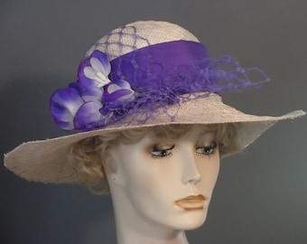 055db1f37 Purple church hat | Etsy