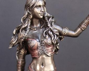 Morrigan Bronze Statue - Morrigan Statue - Goddess Statuary - Altar Statue