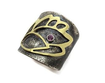 Lotus Cigar Band Ring