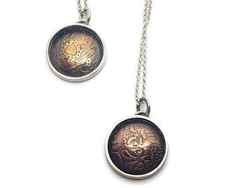 Mandala Shadowbox Pendant In Copper or Bronze